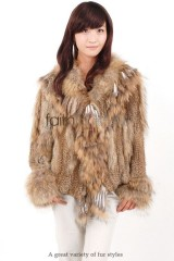 Rabbit Fur Knitted Jacket