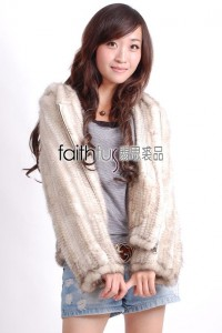 Hooded Mink Fur Knitted Jacket