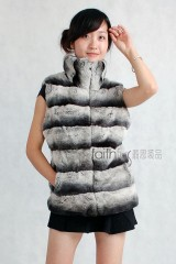 Rex Rabbit Fur (Chinchilla)  Vest