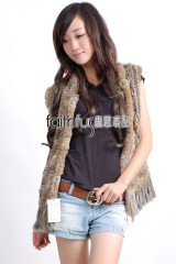 Rabbit Fur Knitted Vest