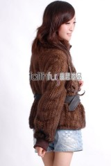Mink Fur Knitted Jacket