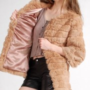 Shearing Rabbit Fur Jacket