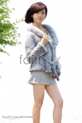 Sapphire Mink Fur Knitted Jacket