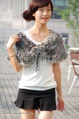 Rex Rabbit Fur Knitted Cape