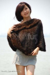 Mink Fur Knitted Cape