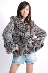 Rex Rabbit Fur Knitted Jacket