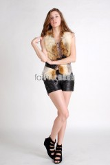 Fox Fur Vest integrated with Sheep Skin