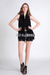 Sheep Fur Knit Vest